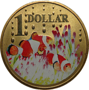 1 Dollar - Elizabeth II (4th Portrait - Clown Fish) – reverse