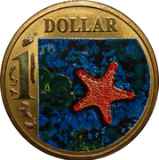1 Dollar - Elizabeth II (4th Portrait - Biscuit Star) -  reverse