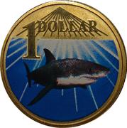 1 Dollar - Elizabeth II (4th Portrait - White Shark) -  reverse