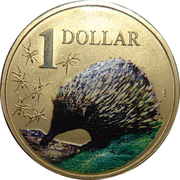 1 Dollar - Elizabeth II (4th Portrait - Echidna) -  reverse