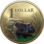 1 Dollar - Elizabeth II (4th Portrait - Wombat) -  reverse