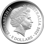 5 Dollars - Elizabeth II (4th Portrait - Longest-Reigning Monarch - Silver Proof) -  obverse