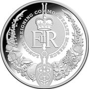 5 Dollars - Elizabeth II (4th Portrait - Longest-Reigning Monarch - Silver Proof) -  reverse