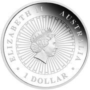 1 Dollar - Elizabeth II (4th Portrait - Tasmanian Devil) -  obverse