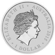 1 Dollar - Elizabeth II (Longest-Reigning Commonwealth Monarch) -  obverse