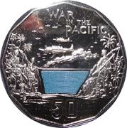 50 Cents - Elizabeth II (War in the Pacific) – reverse