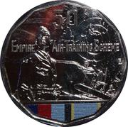 50 Cents - Elizabeth II (Empire Air Training Scheme) -  reverse
