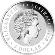 1 Dollar - Elizabeth II (4th Portrait - Koala - Silver Bullion Coin - Gilt) -  obverse
