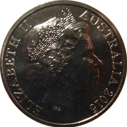 20 Cents - Elizabeth II (Coo-ee March) -  obverse