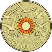"""2 Dollars - Elizabeth II (Remembrance Day - """"In Flanders Fields"""") -  reverse"""