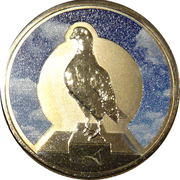 1 Dollar - Elizabeth II (4th Portrait - Unlikely Heroes - Blue Chequer Cock) -  reverse