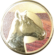 1 Dollar - Elizabeth II (Unlikely Heroes - Sandy the War Horse) -  reverse