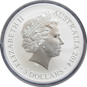 5 Dollars - Elizabeth II (Victoria Cross For Australia) -  obverse