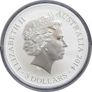 5 Dollars - Elizabeth II (4th Portrait - Victoria Cross For Australia - Silver Proof) -  obverse