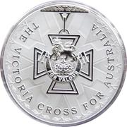 5 Dollars - Elizabeth II (4th Portrait - Victoria Cross For Australia - Silver Proof) -  reverse
