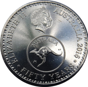 5 Cents - Elizabeth II (50th Anniversary of Decimal Currency) – obverse