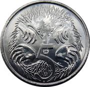 5 Cents - Elizabeth II (4th Portrait - 50th Anniversary of Decimal Currency) -  reverse