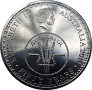 10 Cents - Elizabeth II (50th Anniversary of Decimal Currency) – obverse