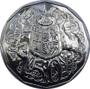 50 Cents - Elizabeth II (50th Anniversary of Decimal Currency) – reverse