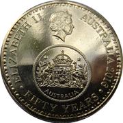 1 Dollar - Elizabeth II (50th Anniversary of Decimal Currency) -  obverse