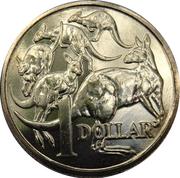 1 Dollar - Elizabeth II (50th Anniversary of Decimal Currency) -  reverse