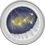 5 Dollars - Elizabeth II (4th Portrait - Northern Sky - Cassiopeia - Silver Domed) -  reverse