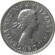 "3 Pence - Elizabeth II (1st portrait; without ""F:D:"") – obverse"