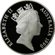 10 Dollars - Elizabeth II (3rd Portrait - White Cockatoo - Silver Proof) – obverse