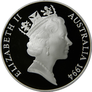 10 Dollars - Elizabeth II (3rd Portrait - Wedge-tailed Eagle - Silver Proof) – obverse