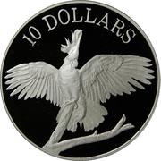 10 Dollars - Elizabeth II (Cockatoo) -  reverse