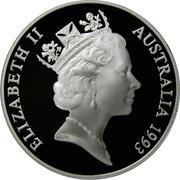 10 Dollars - Elizabeth II (3rd Portrait - Palm Cockatoo UNEP - Piedfort) -  obverse