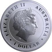1 Dollar - Elizabeth II (Australian Saltwater Crocodile) -  obverse