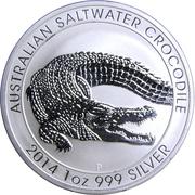 1 Dollar - Elizabeth II (Australian Saltwater Crocodile) -  reverse