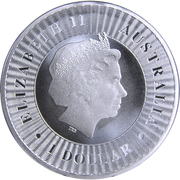 1 Dollar - Elizabeth II (Australian Kangaroo) -  obverse