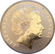 "1 Dollar - Elizabeth II (""Kangaroo"" Silver Bullion) -  obverse"