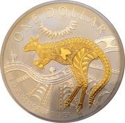 """1 Dollar - Elizabeth II (""""Kangaroo"""" Silver Bullion) -  reverse"""