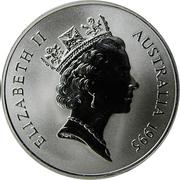 1 Dollar - Elizabeth II (3rd Portrait - Kangaroo - Silver Bullion Coin) -  obverse