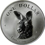 1 Dollar - Elizabeth II (Kangaroo - Bullion Coinage) -  reverse