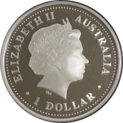 1 Dollar - Elizabeth II (4th Portrait - Queen Elizabeth II 80th Birthday) -  obverse