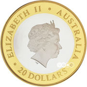 20 Dollars - Elizabeth II (Gregorian Millennium) -  obverse