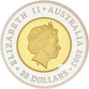 20 Dollars - Elizabeth II (Golden Jubilee Coronation) -  obverse