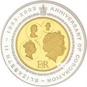20 Dollars - Elizabeth II (Golden Jubilee Coronation) -  reverse