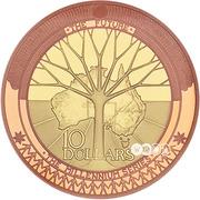 10 Dollars - Elizabeth II (4th Portrait - Millennium - The Future) -  reverse