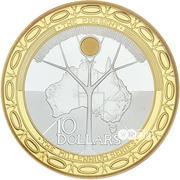 10 Dollars - Elizabeth II (Millennium) -  reverse