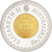 10 Dollars - Elizabeth II (4th Portrait - Adelaide Pound - Bimetal Gilt) -  obverse