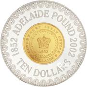 10 Dollars - Elizabeth II (Adelaide Pound) -  reverse