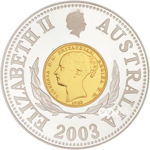 Horserider//Ox Cart//p58b UNC Australia 10 Dollars 2003