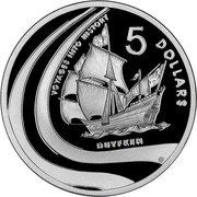 5 Dollars - Elizabeth II (Duyfken) -  reverse