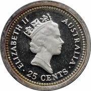 25 Cents - Elizabeth II (3rd Portrait - The Dump) -  obverse