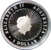 1 Dollar - Elizabeth II (4th Portrait - Opal Lunar Monkey) -  obverse